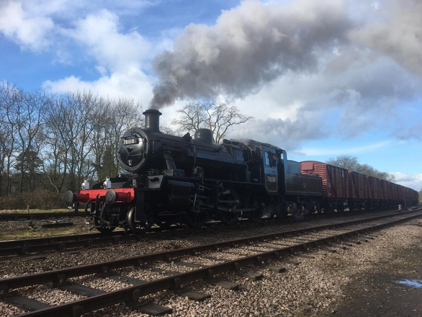 Image: Jack Arthur Shaw, 78018 running through Swithland Sidings
