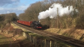 Image: Jack Arthur Shaw, 78018 running past Kinchley Lane