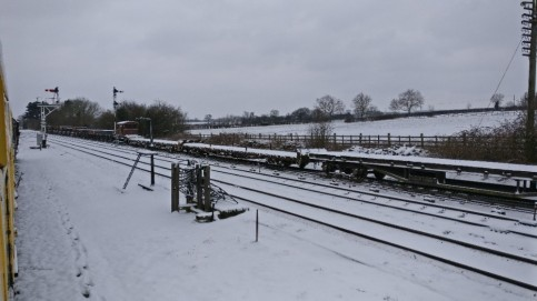 Down-Ly by at Quorn in the Snow
