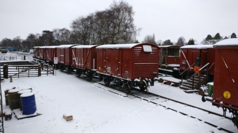 Snowy Van train.