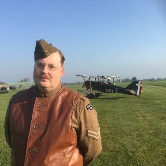 Matt as a member of the Royal Flying Corps
