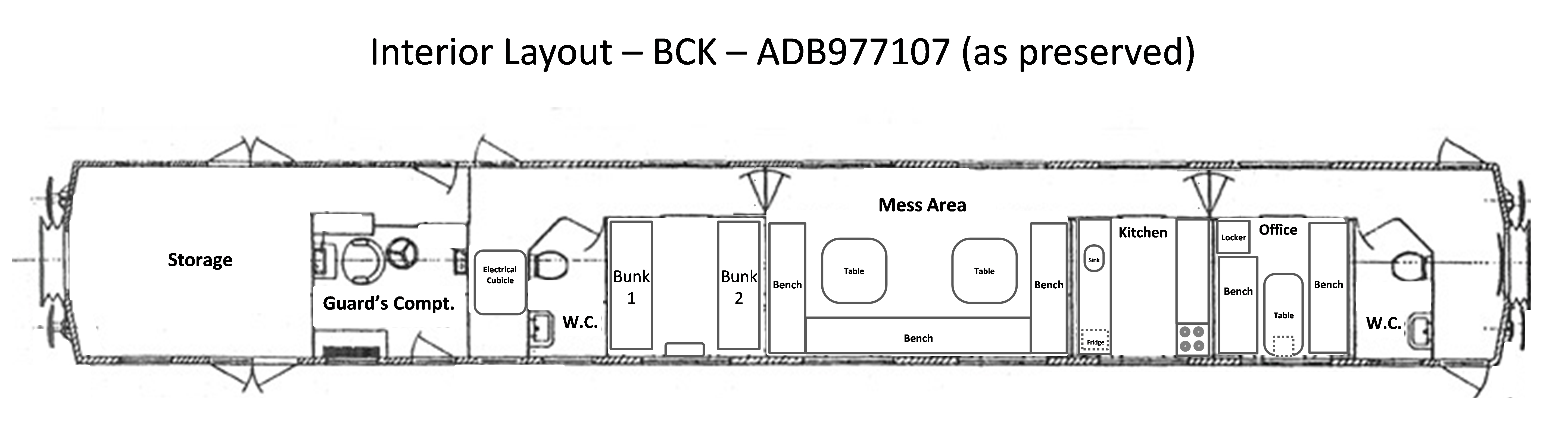 BCK - ADB977107 Layout Diagram As Preserved